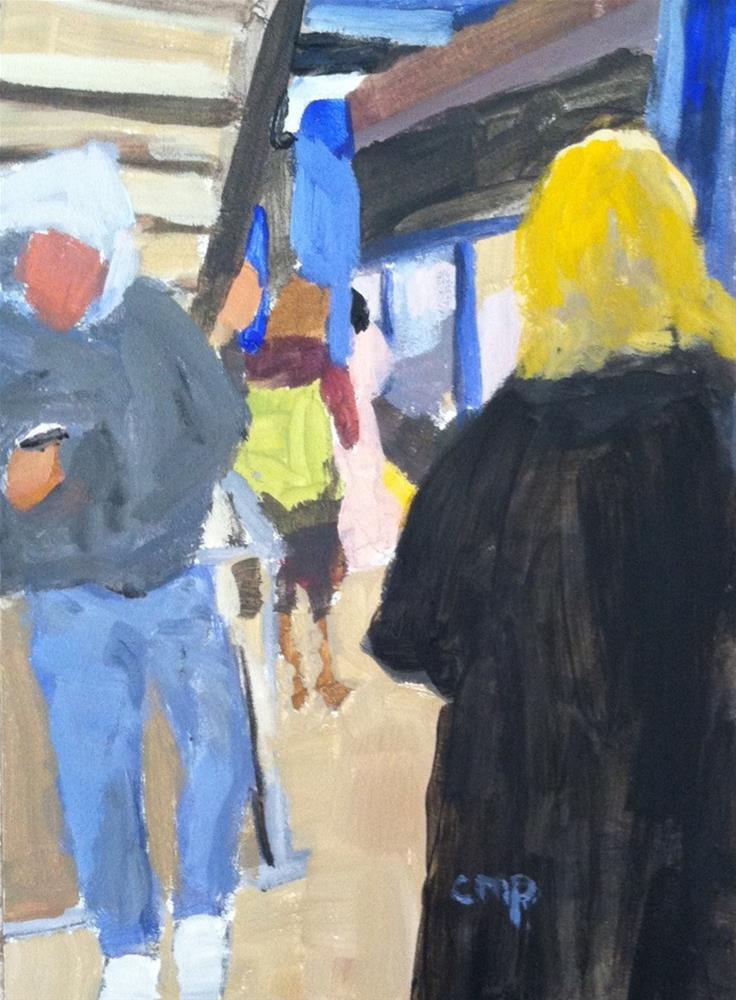 """Waiting for the A Train"" original fine art by Christine Parker"