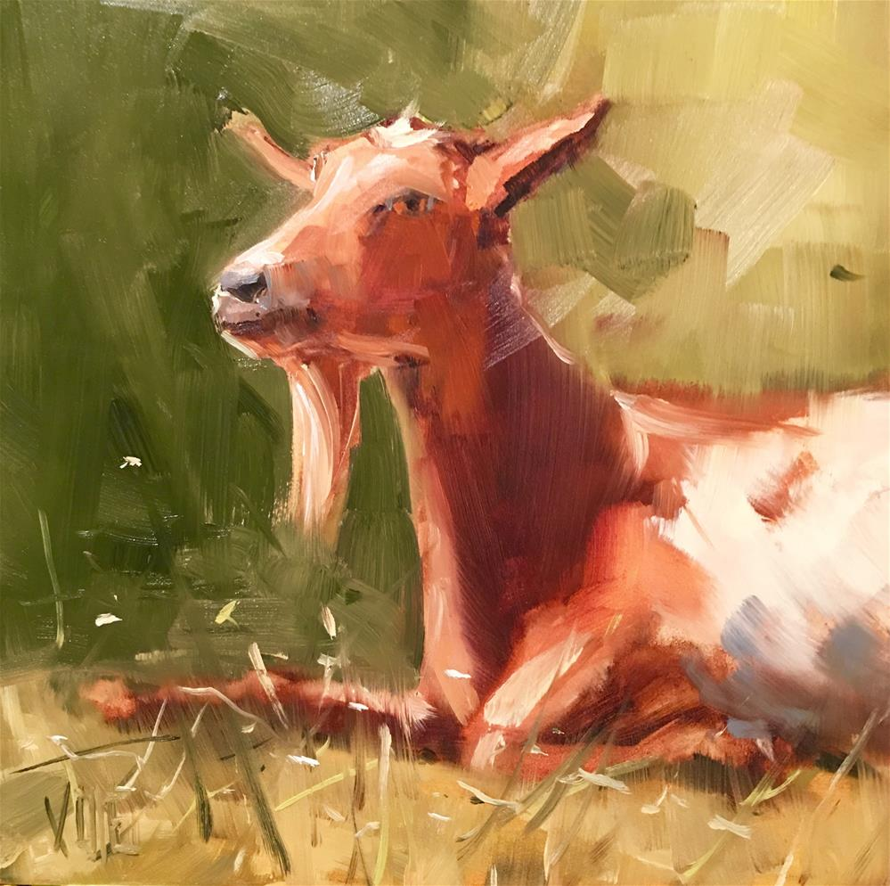 """#304 Goatitude"" original fine art by Patty Voje"