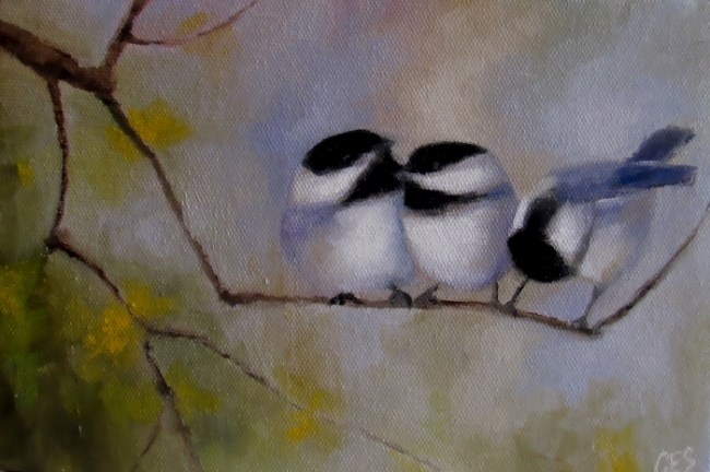 """Gossip"" original fine art by ~ces~ Christine E. S. Code"