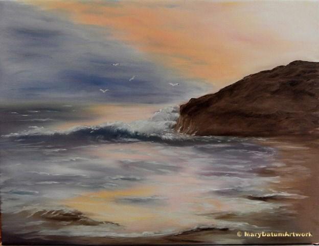 """Elephant Rock at Sunset"" original fine art by Mary Datum"