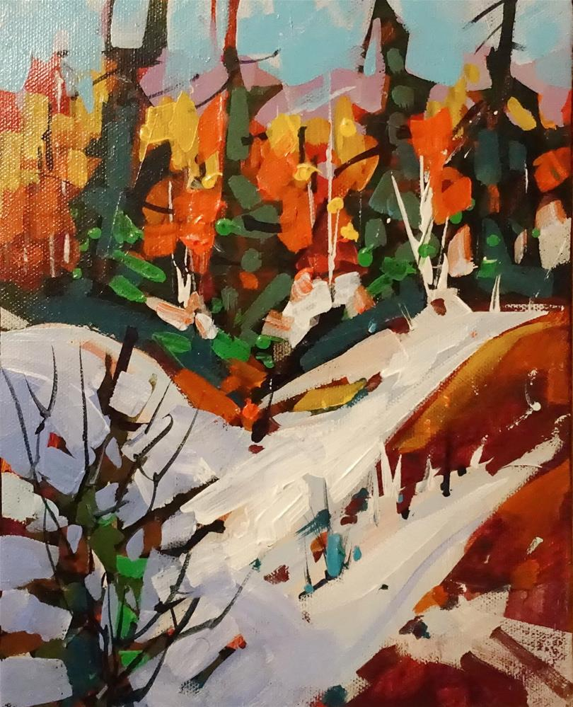 """October Snow"" original fine art by Brian Buckrell"