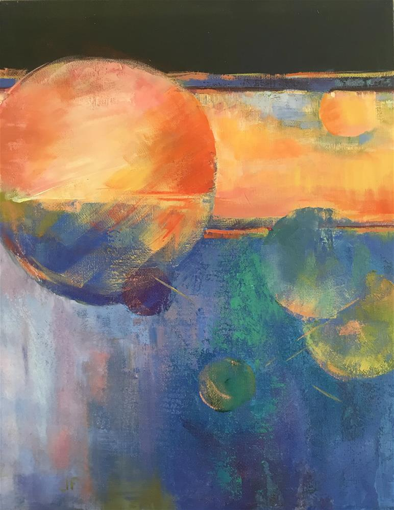 """Orbs"" original fine art by Jean Fitzgerald"