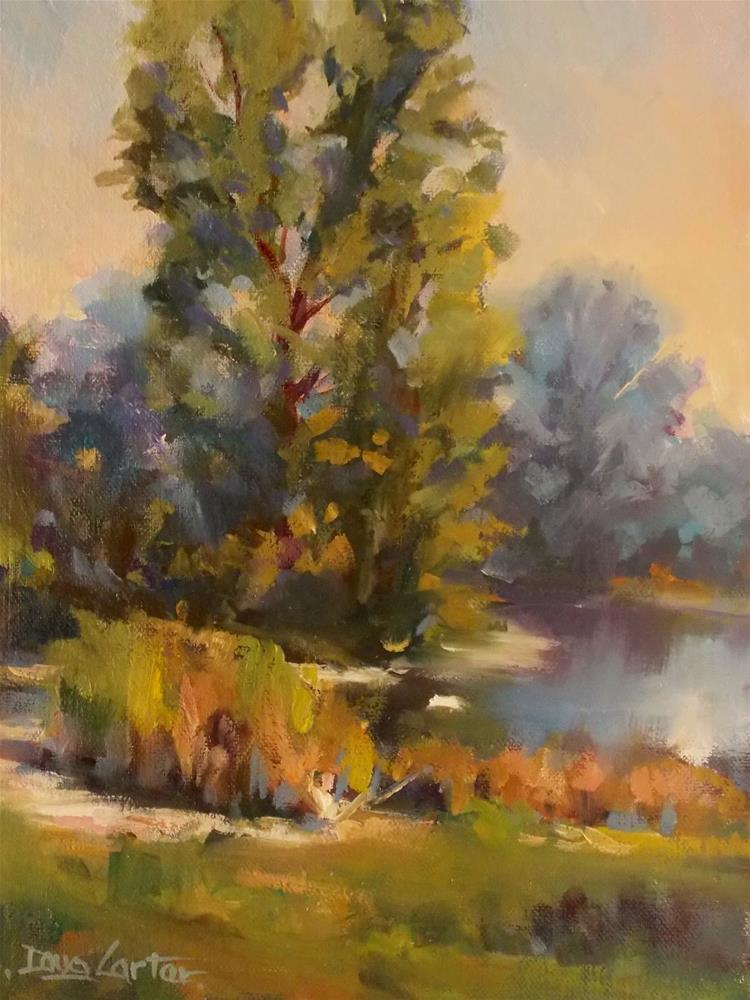 """ LAKE  COVE "" original fine art by Doug Carter"