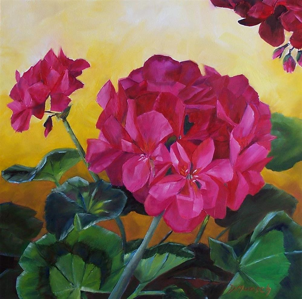 """Hot Pink Geranium"" original fine art by Donna Munsch"