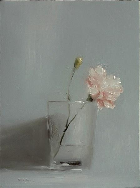 """""""Carnation in Glass"""" original fine art by Neil Carroll"""