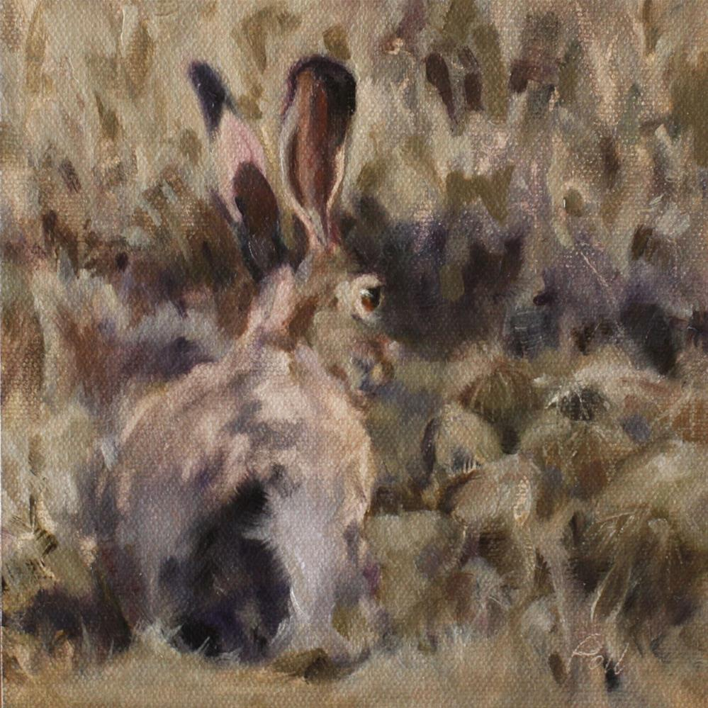 """Jackrabbit Camo"" original fine art by Pamela Poll"
