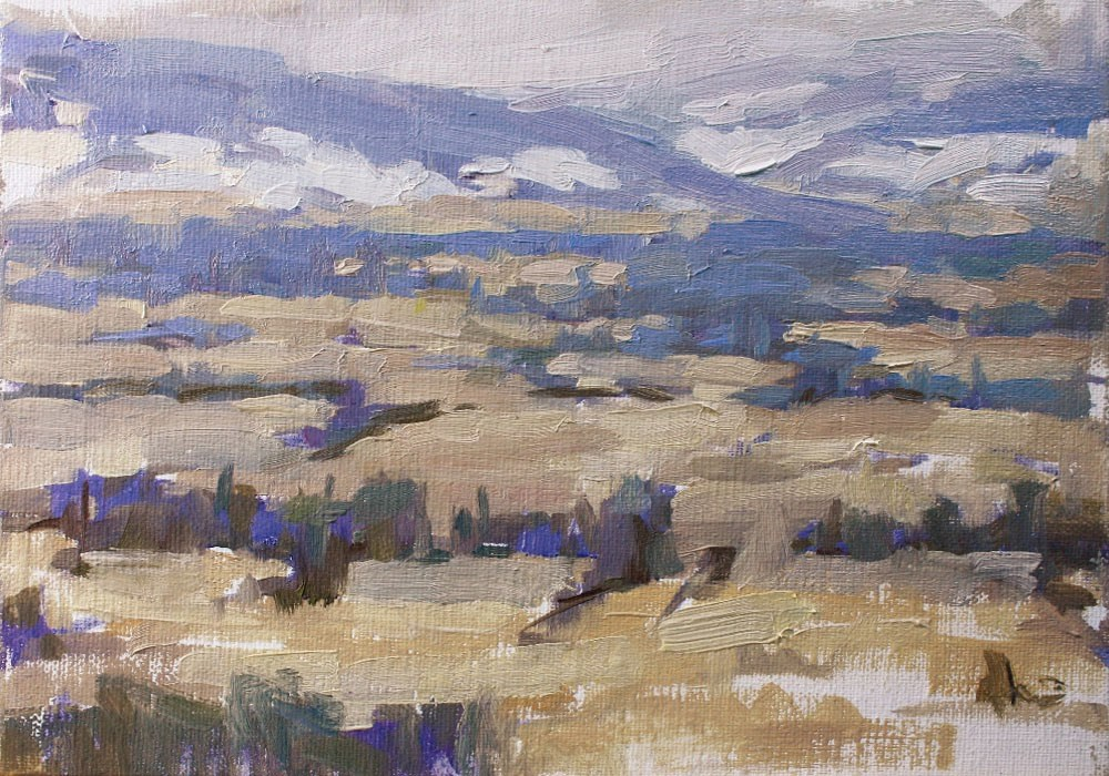 """Winter in Kittitas Valley"" original fine art by Melanie Thompson"
