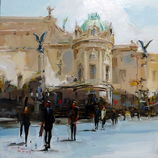 """opera national de paris "" original fine art by Jurij Frey"