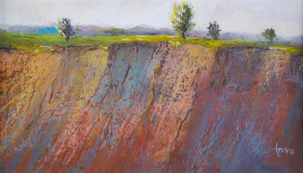 """At the Edge"" original fine art by Susan Ferro"