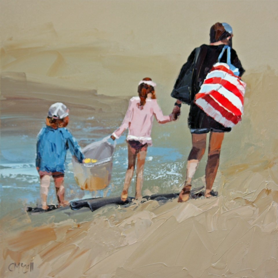 """Another Beach Day Done"" original fine art by Claire McCall"