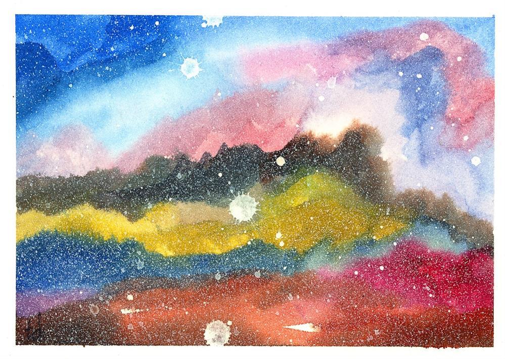 """Nebula"" original fine art by Tonya Doughty"