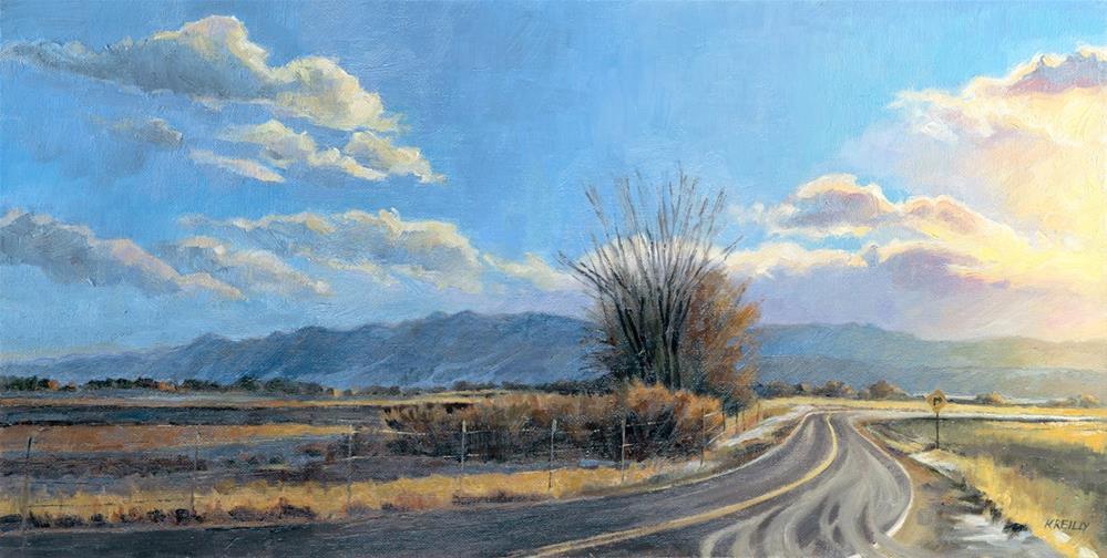 """Curve Ahead"" original fine art by Kath Reilly"
