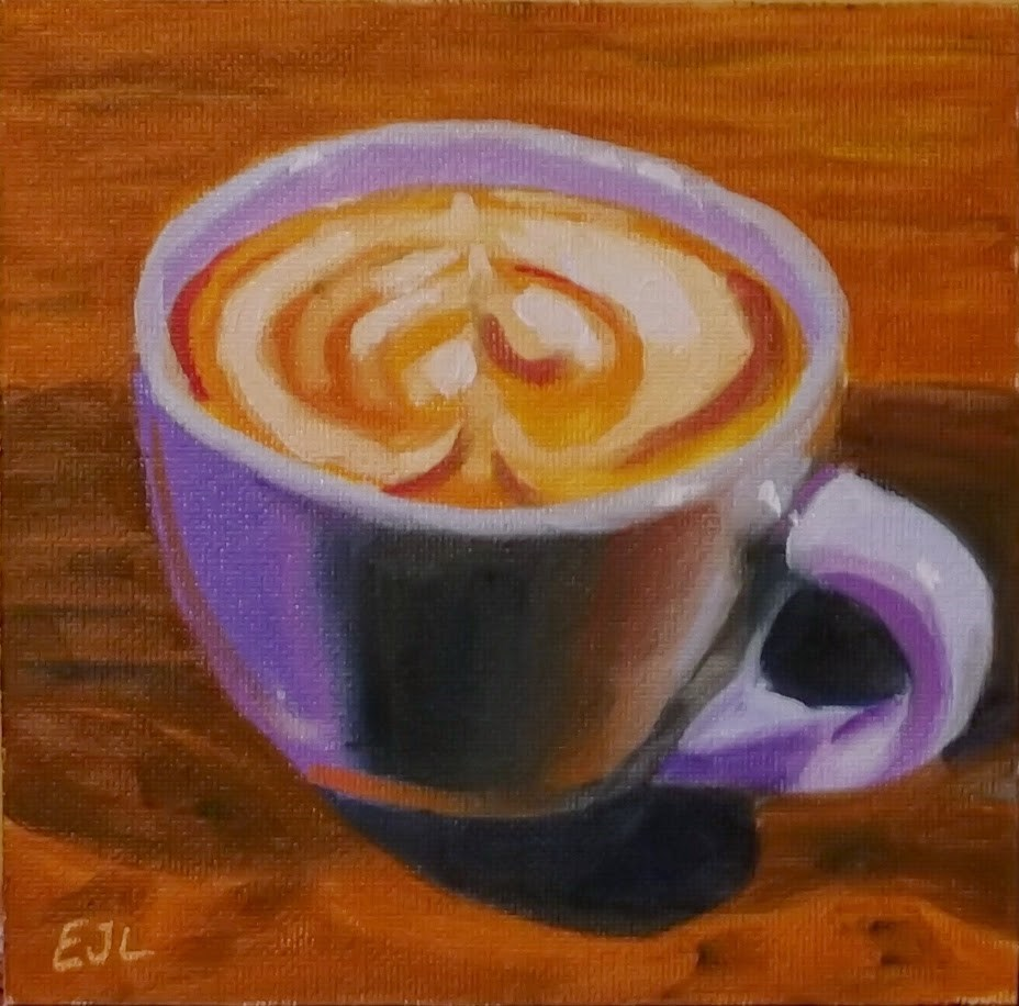 """Frothy Monkey Cappuccino"" original fine art by Eric Larson"