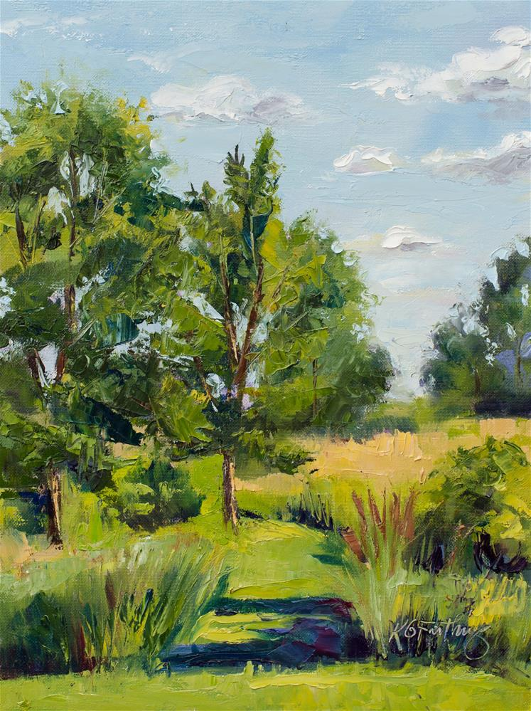 """Summer Afternoon"" original fine art by Kathleen Gray Farthing"