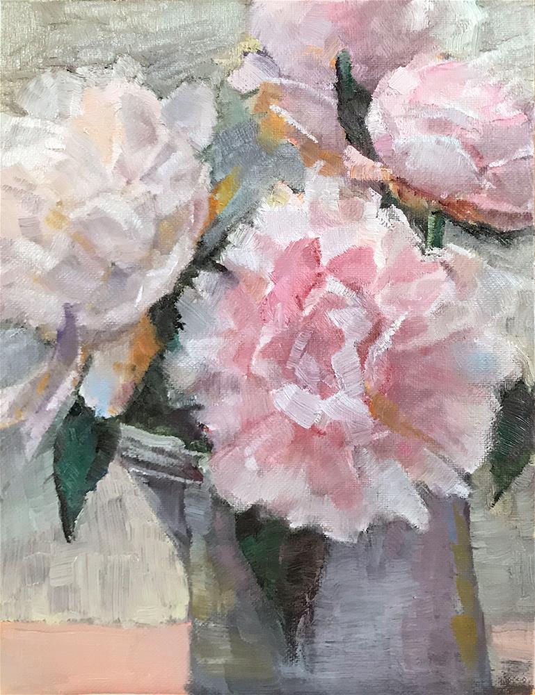 """Peonies"" original fine art by Sarah Buell Dowling"