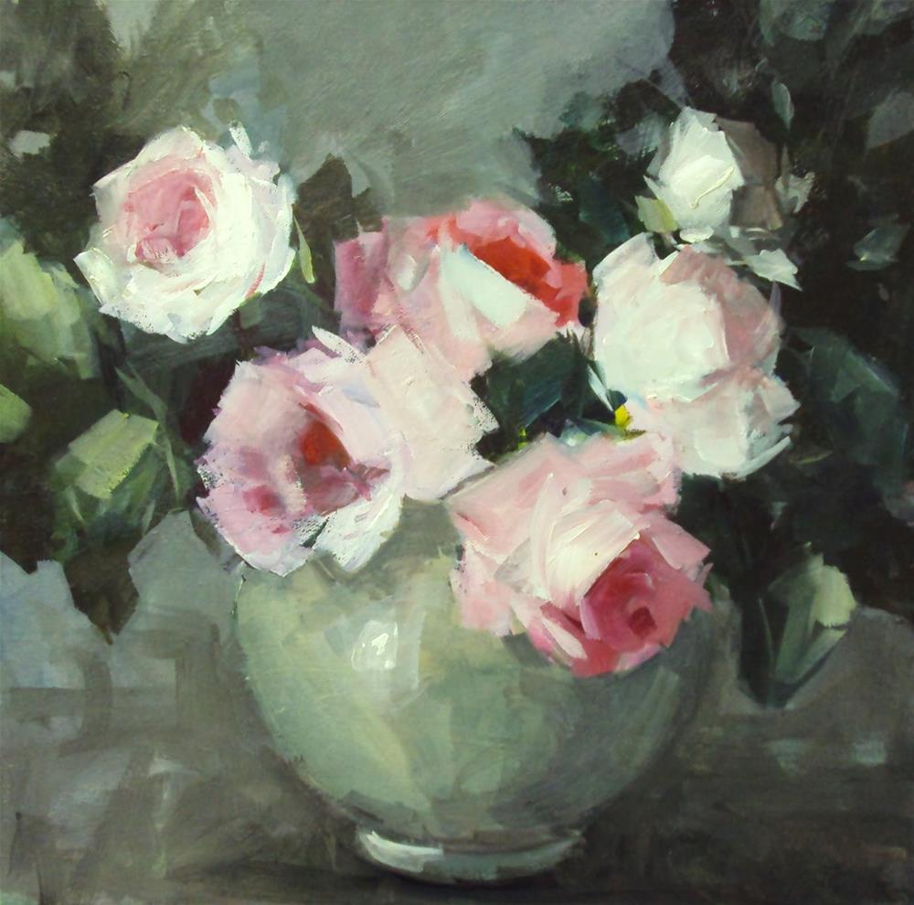 """Valentine roses"" original fine art by Parastoo Ganjei"