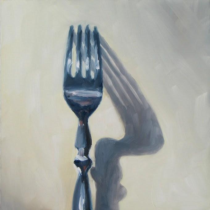 """Upright Fork"" original fine art by Nora Bergman"