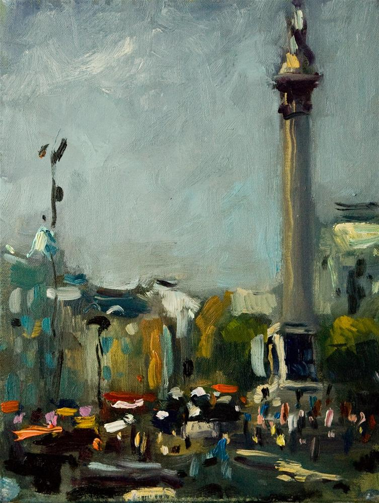 """Trafalgar Square (Nelson's Column)"" original fine art by Andre Pallat"