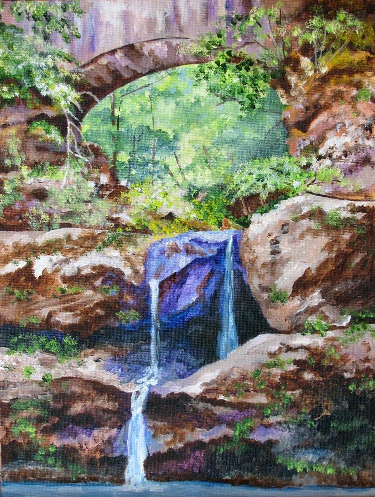 """""""The Grotto"""" original fine art by Nan Johnson"""