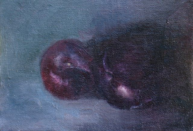 """Plum 2"" original fine art by Susan Hammer"