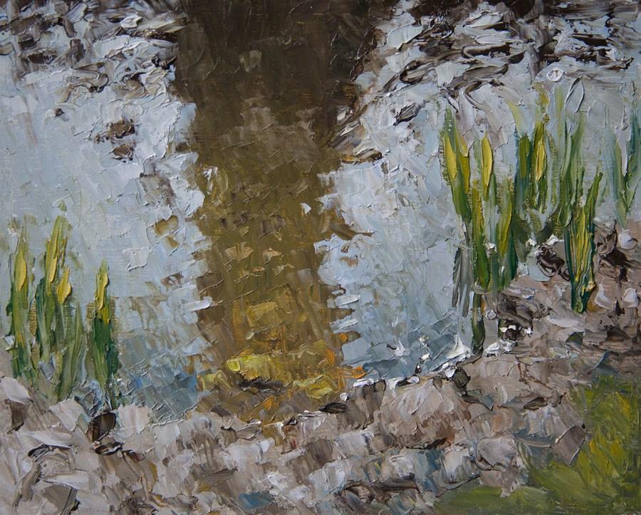 """Lake's Edge"" original fine art by Jethro Knight"