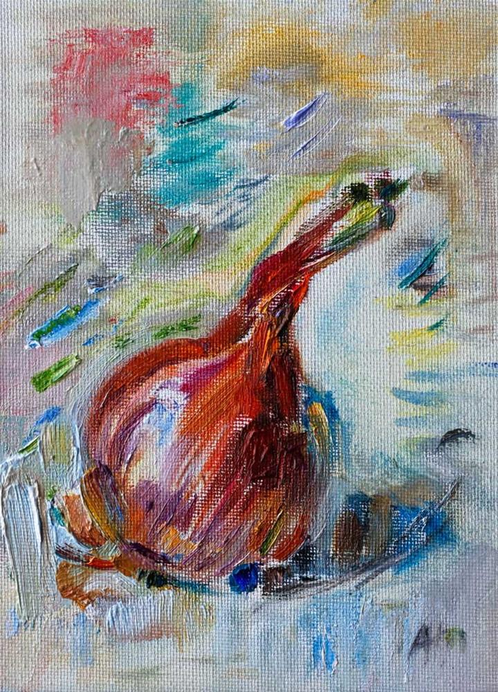 """Impressionistic Onion"" original fine art by Anna  Fine Art"