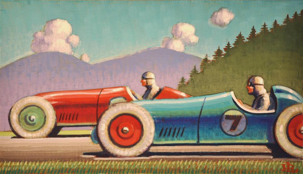 """Racers"" original fine art by Robert LaDuke"