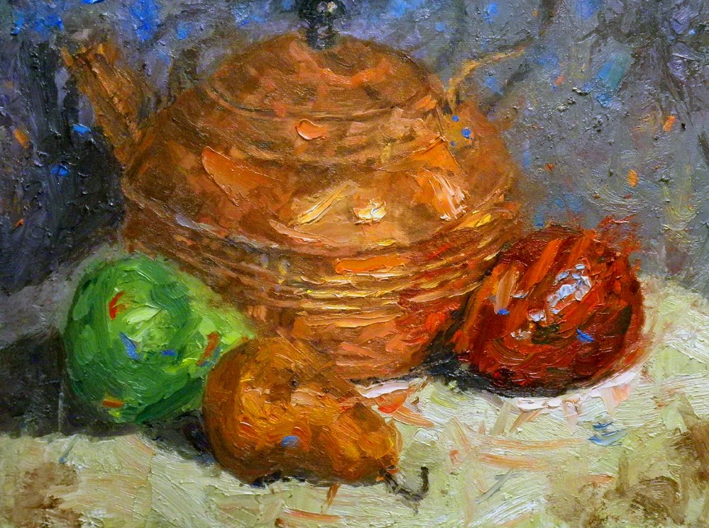 """Still Life with Pears"" original fine art by Daniel Fishback"