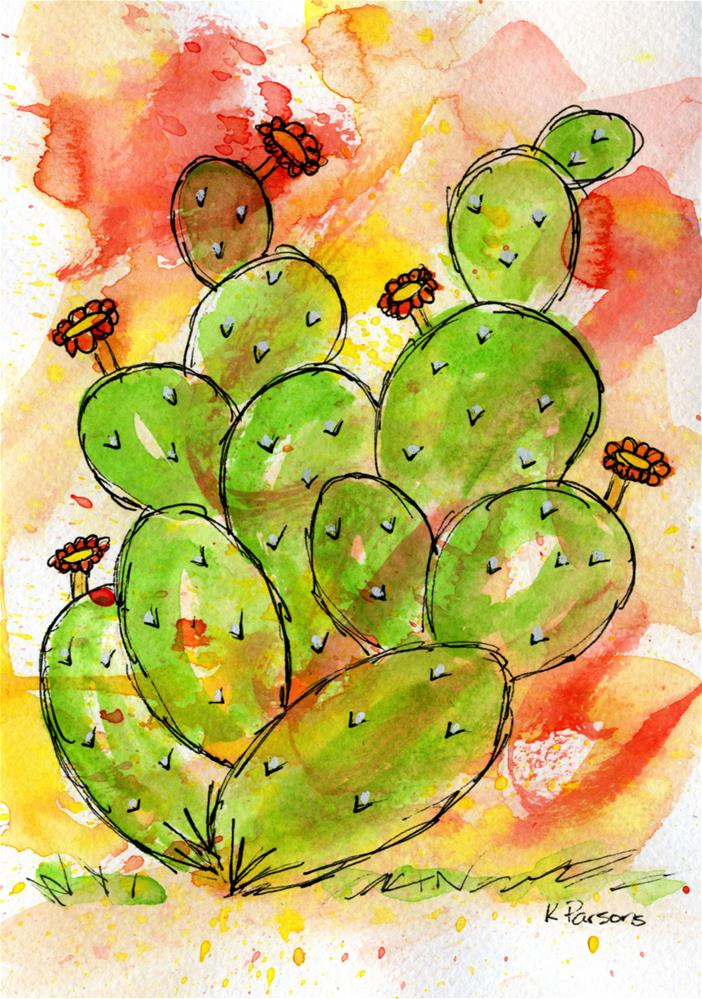 """Prickly"" original fine art by Kali Parsons"