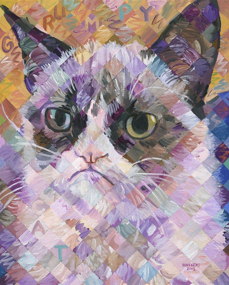 """Grumpy Cat"" original fine art by Randal Huiskens"