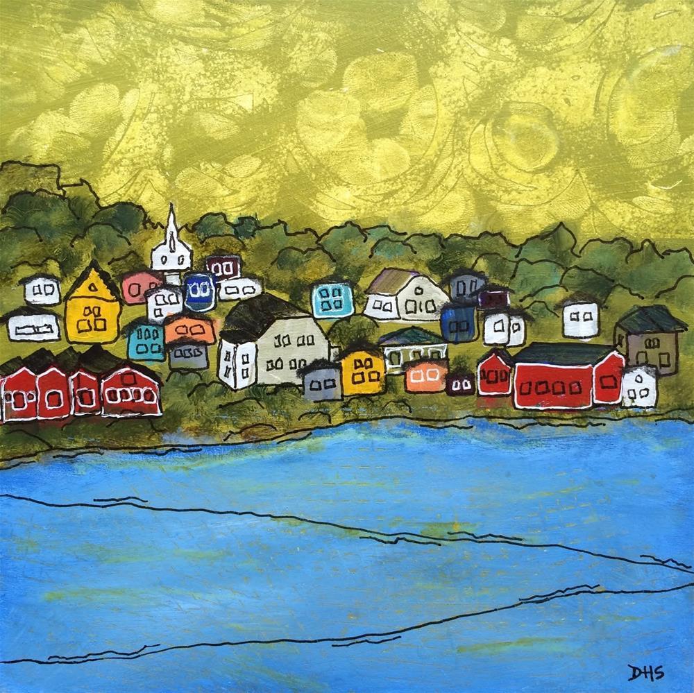 """""""Looking Across to Lunenburg"""" original fine art by Dotty  Seiter"""