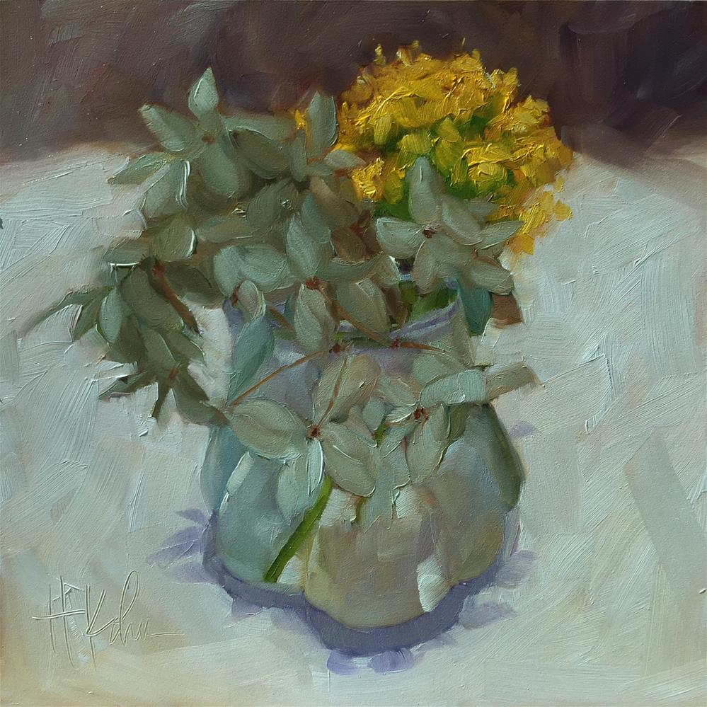 """Vase at Sardine"" original fine art by Hallie Kohn"
