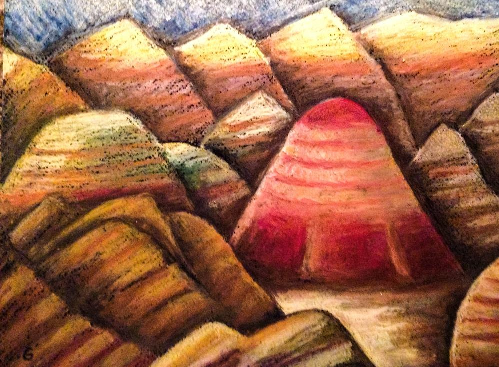 """Badlands 4, South Dakota"" original fine art by Giovanni Antunez"