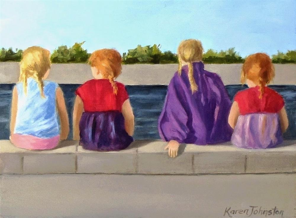 """Cousins"" original fine art by Karen Johnston"