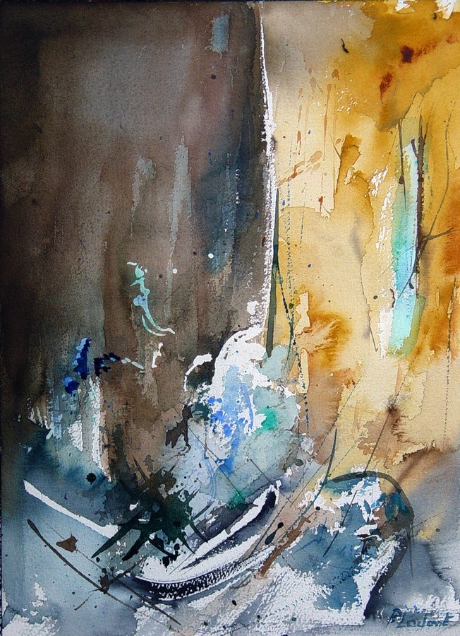 """watercolor 181205"" original fine art by Pol Ledent"