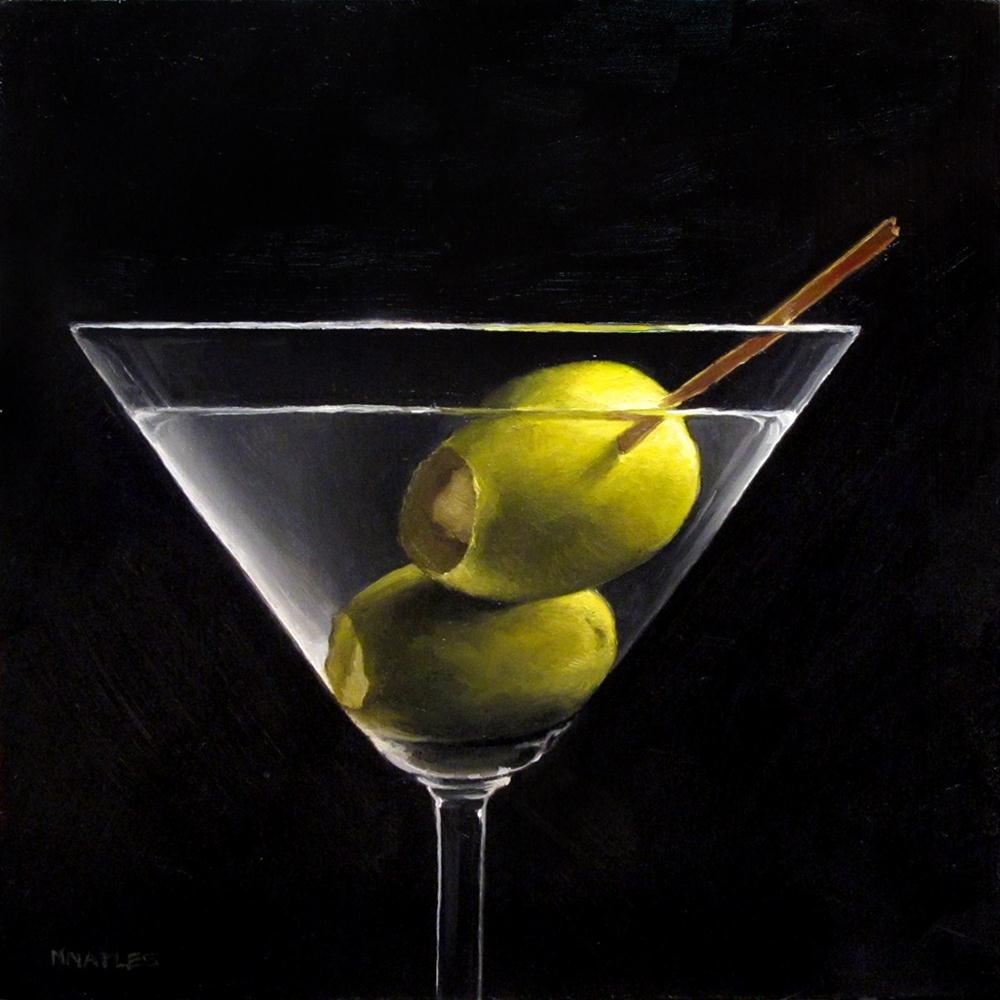 """Dirty Martini"" original fine art by Michael Naples"