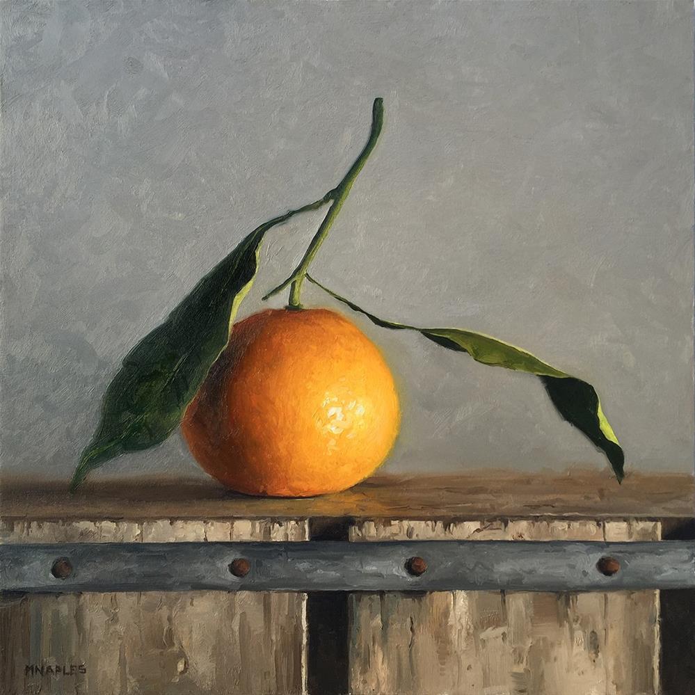 """Leafy Orange"" original fine art by Michael Naples"