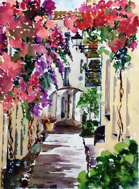 """Mediterranean Home"" original fine art by Lisa Fu"