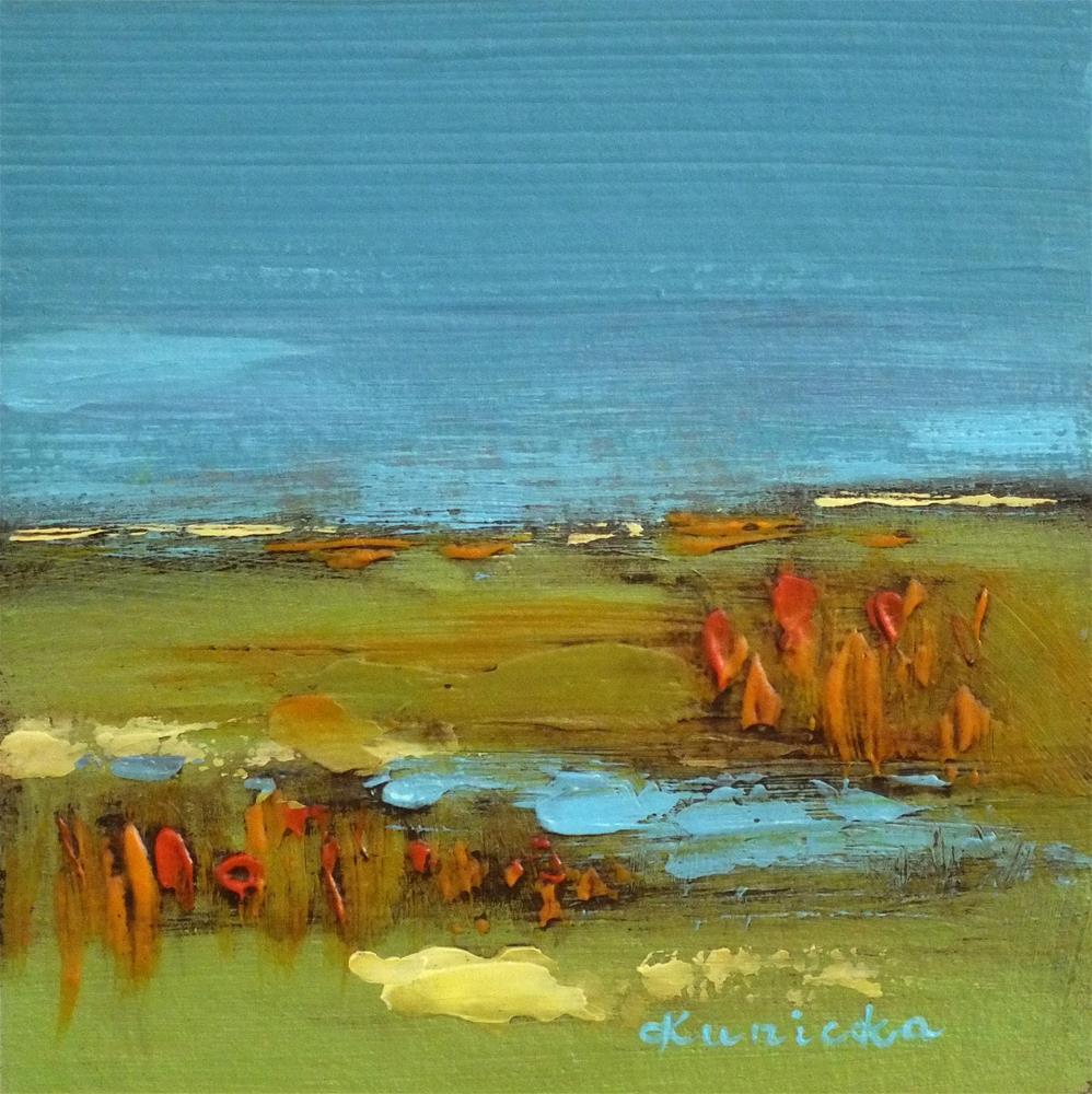 """Landscape 218"" original fine art by Ewa Kunicka"