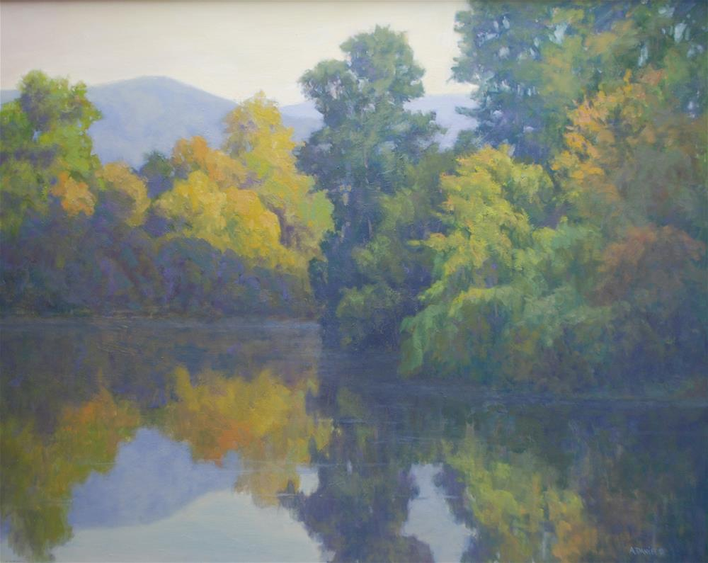 """Evening light"" original fine art by Arlene Daniel"
