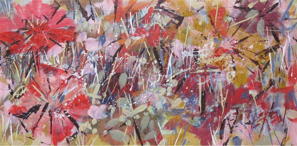 """""""Zinnia Zeal by Larry Lerew 160901"""" original fine art by Larry Lerew"""