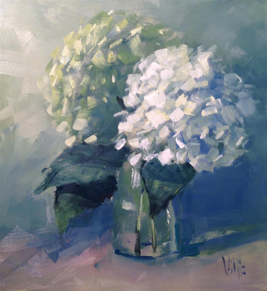 """""""#238 Hydrangeas in December"""" original fine art by Patty Voje"""