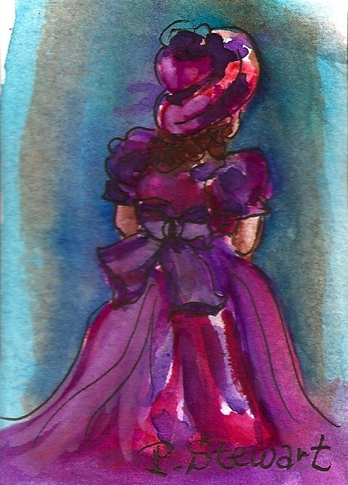 """ACEO Flower Girl"" original fine art by Penny Lee StewArt"