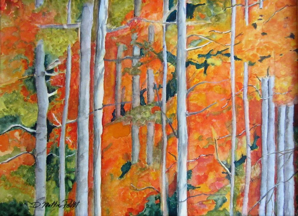 """White Birch"" original fine art by Dolores Pettit"