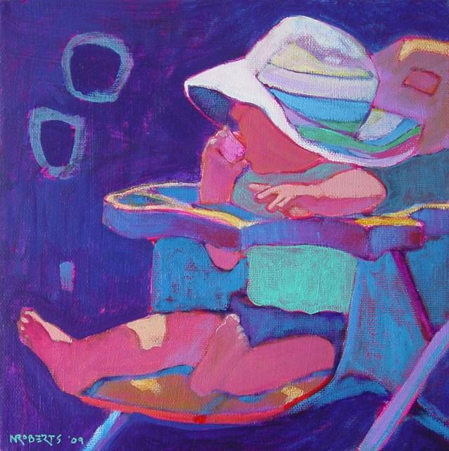 """Somebody's Baby"" original fine art by Nancy Roberts"