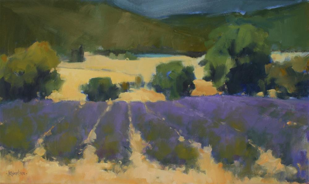 """Lavender Trail"" original fine art by Jane Robertson"