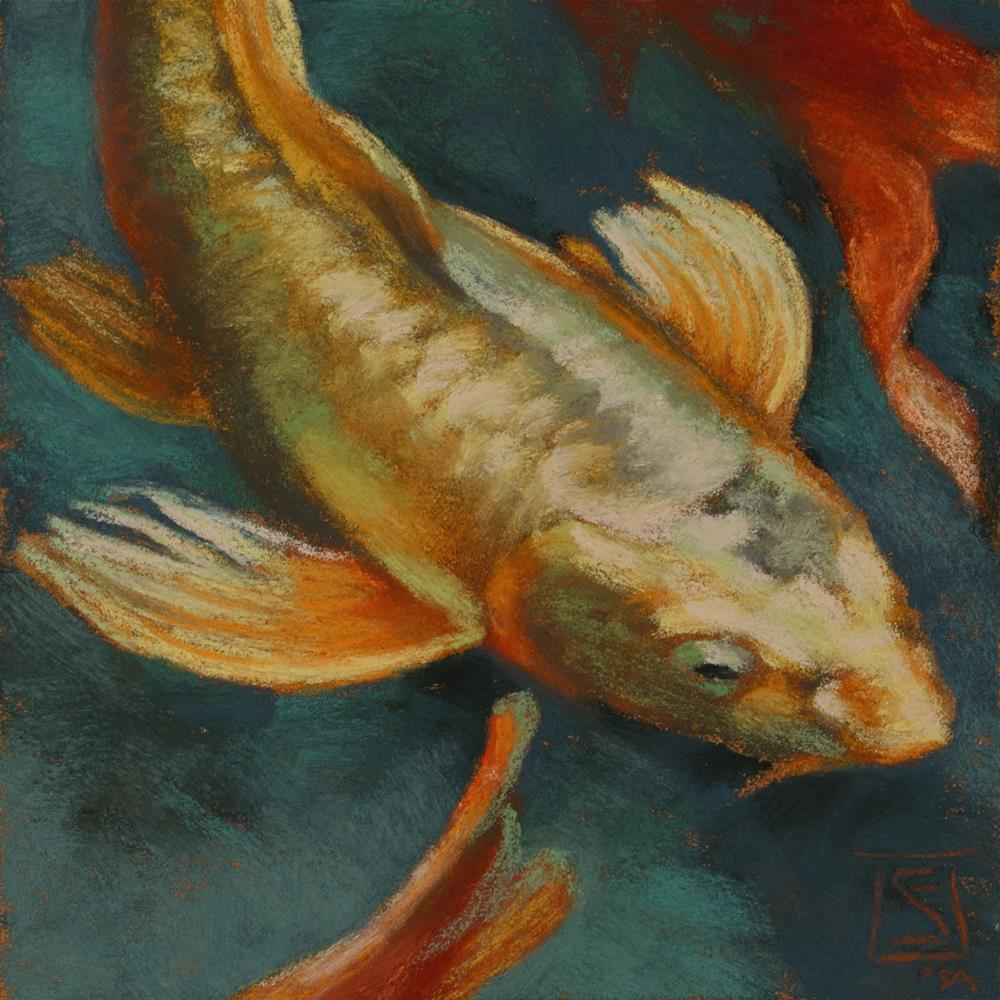 """Swimming Sun"" original fine art by Sheila Evans"