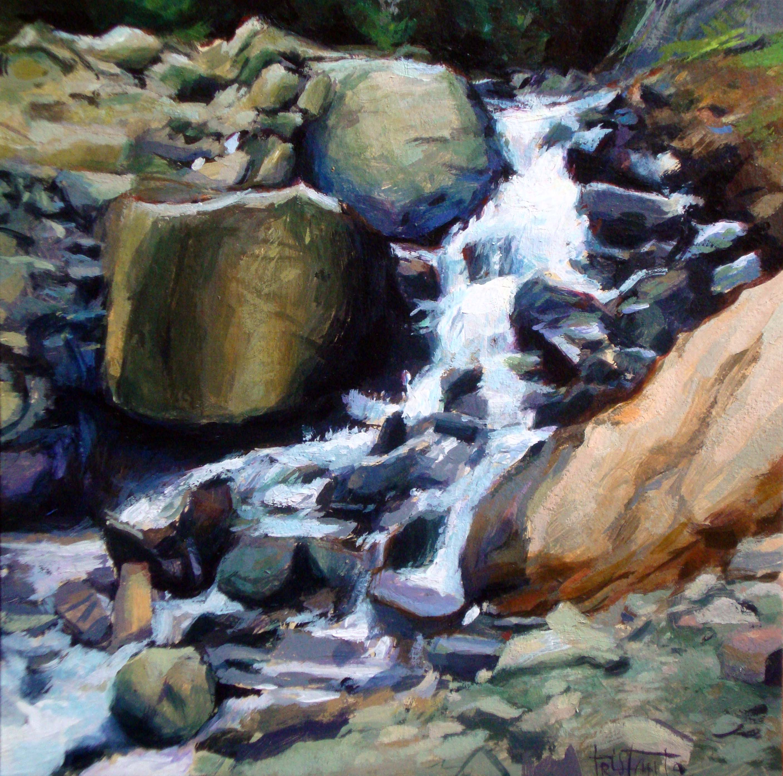 """Running water"" original fine art by Víctor Tristante"