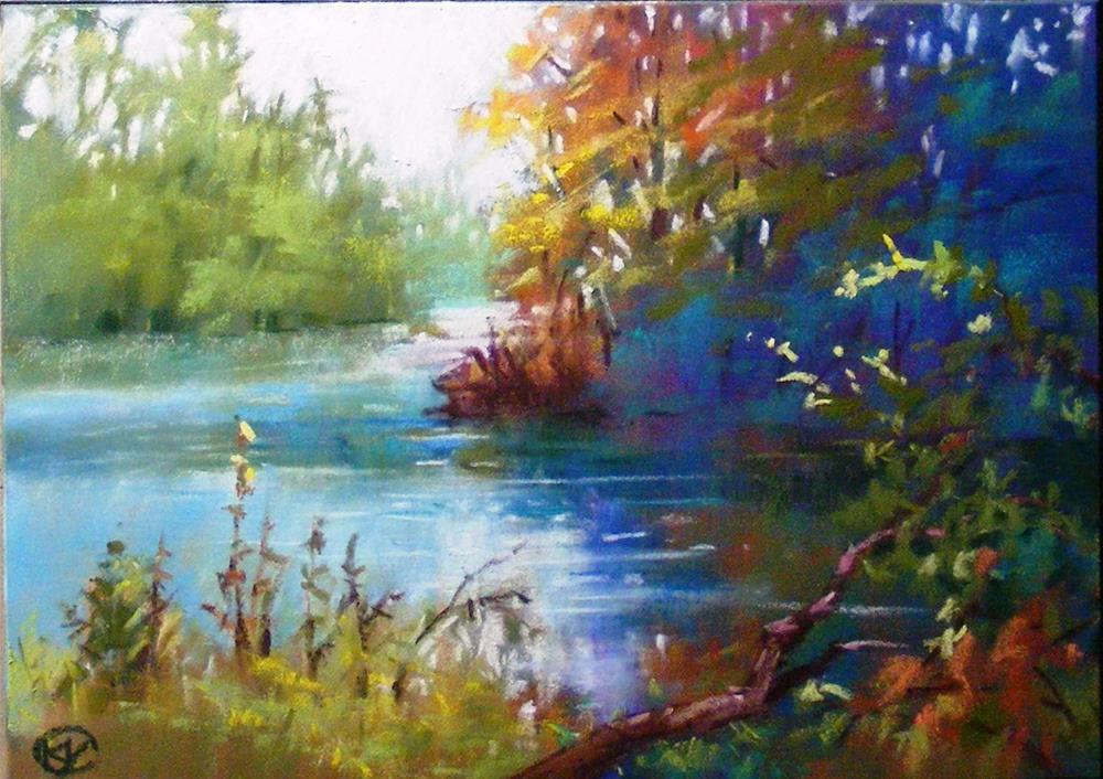 """White water park (1)"" original fine art by Celine K.  Yong"