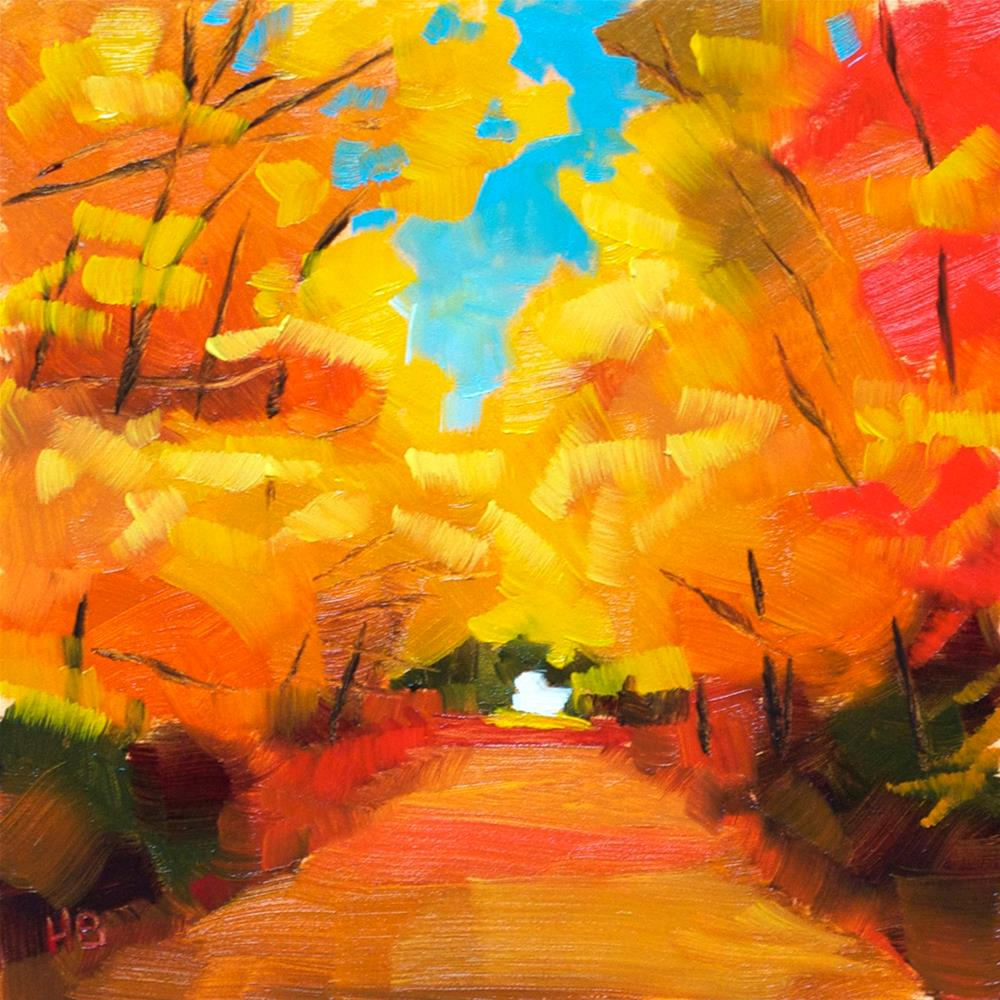 """Golden Canopy"" original fine art by Heather Bullach"